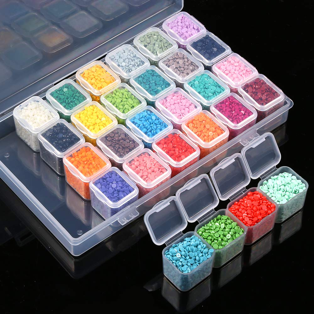 Organizer Storage Boxes Of DIY Diamond Painting Tools Drill Mosaic Case Embroidery Accessories Transparent Container 64/56/28 PC-4