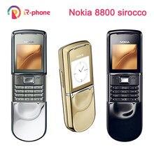 Oryginalny odblokowany telefon komórkowy NOKIA 8800 Sirocco GSM tri-band Camera Bluetooth 8800D rosyjska klawiatura