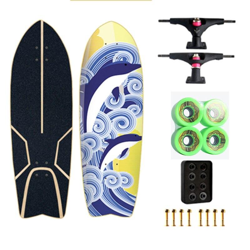 Land Carver 2 génération flambant neuf planche de Surf planche à roulettes direction nid gratuit ski Surf formation - 6