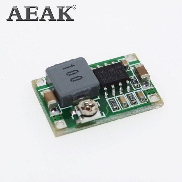 AEAK 100PCS RCเครื่องบินโมดูลMini 360 DC DC Buck Converterขั้นตอนลงโมดูล 4.75V 23Vถึง 1V 17V 17x11x3.8 มม.Mini360 ใหม่LM2596
