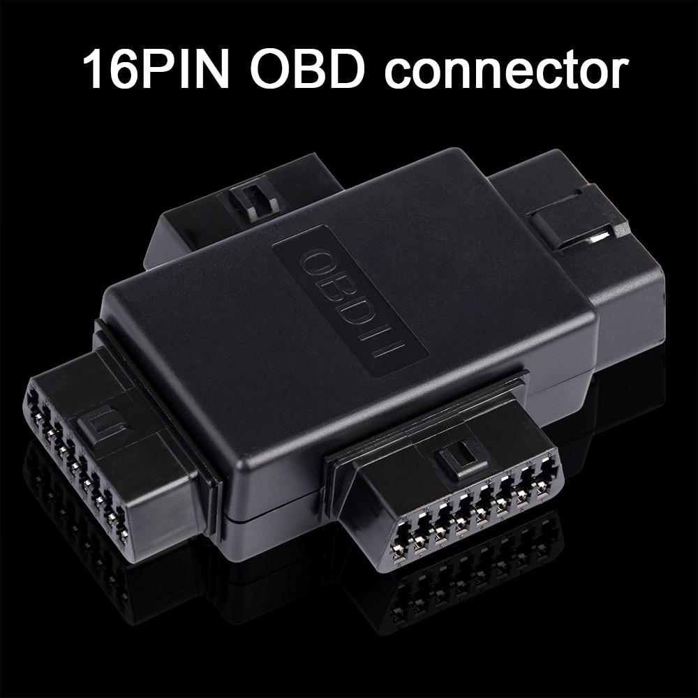 16 Pin OBD2 Автомобильная Соединительная заглушка 1 штекер до 3 Женский ELM327 многофункциональный разъем диагностические кабели инструмент автом...
