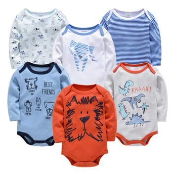 Cotton Newborn Baby Bodysuits Ropas Bebe De Infant Jumpsuit Cartoon Baby Boys Girls Clothes Long Sleeve New Baby Clothing Set
