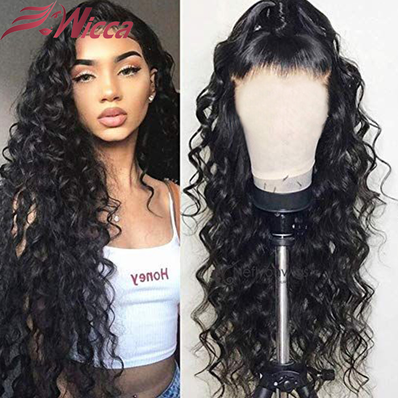 New PU Silk Base Wave Wigs For Women Human Hair Wigs 180 Density Natural Color Remy Brazilian Curly