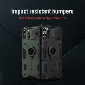 Image 2 - For IPhone 11 Pro durumda NILLKIN Lens koruma CamShield zırh vaka For iPhone 11 Pro Max ile halka Kickstand ve slayt kapağı