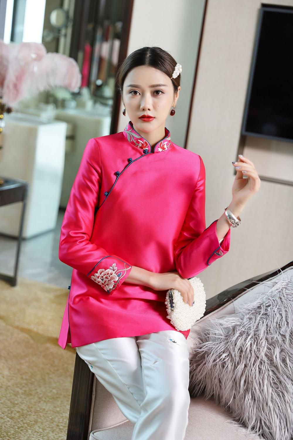 2020 Boutique Chinese Creative Vintage Top Coat Embroidery For Women