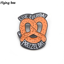 Flyingbee office funny staff Brooch and Pin jacket Pin Enamel Pins Badges Lapel Pin Brooches Badge for Friends Women Men X0433 reading world book brooch enamel badge pin read more reader bookworm lapel pins enamel brooches pin for bibliophilefor friends
