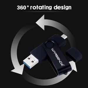 Image 3 - WANSENDA Usb 3.0 USB Flash sürücü yüksek hızlı OTG kalem sürücü 16GB 32GB 64GB 128GB 256GB Pendrive 2 in 1 mikro USB sopa çift USB