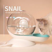 2.8L Bubble Pet Waterer Feeder Snail Shaped Automatic Water Drinking Dispenser Large Capacity Water Bowl Fountain for Dog Cat pet water dispenser with base snails shaped bubble automatic cat water bowl fountain large drinking bowl with filtration system