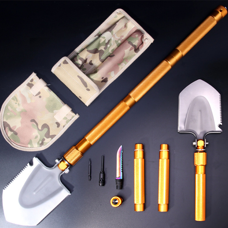 Outdoor Multi-functional Shovel Portable Folding Survival Tool Camping Supplies Equipment Shovel Military Large Size Spatula