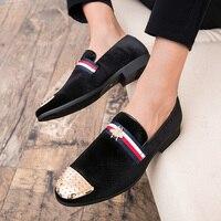 Мужская обувь большого размера; мужские лоферы с заклепками; удобная повседневная обувь; роскошные модные мужские туфли для свадебной вече...
