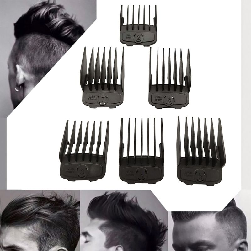 Professional Cutting Guide Comb Hair Clipper Limit Comb Set Cutting Tools Kit