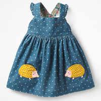 Little maven enfants marque vêtements 2019 automne bébé filles vêtements coton FRUIT ANIMAL applique dot sundress fille robes sans manches