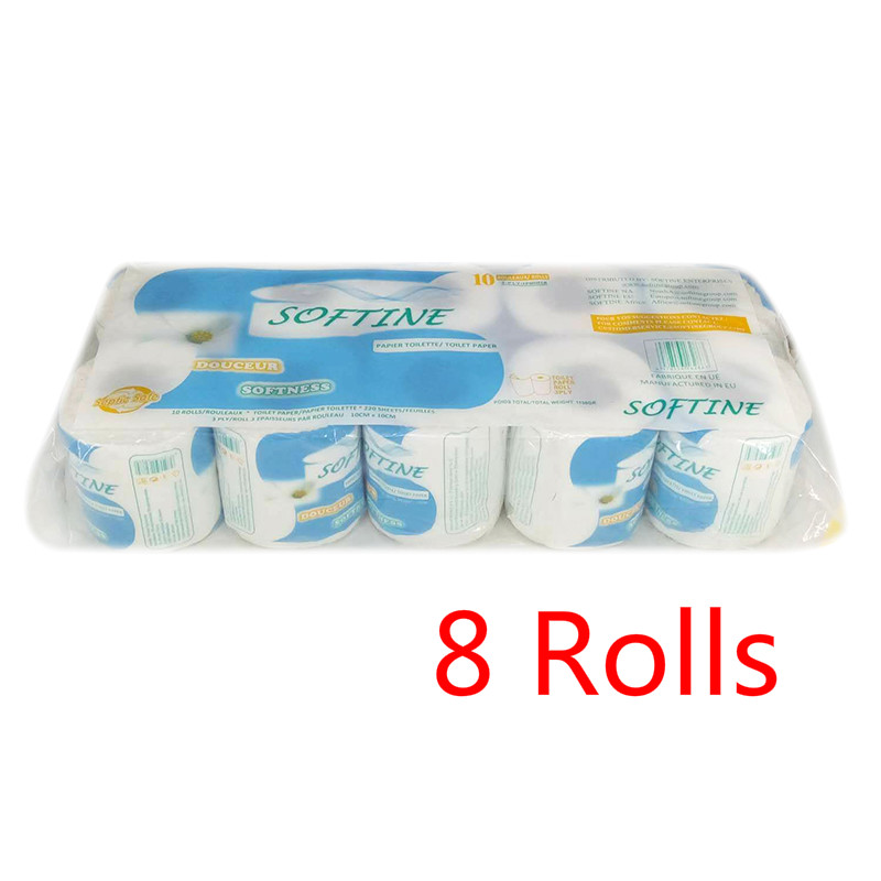 8 Rolls Paper Towels Soft Toilet Paper White Toilet Paper Toilet Roll Tissue Roll Pack Of 3-Ply Paper Towels Silky Smooth Tissue
