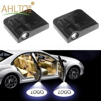 2x Car Door Logo Light Welcome Lamp Decorative Lights Universal Wireless Projector Atmosphere LED