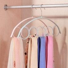 Kacuyelin 5 отверстий шарф Вешалка PP Материал Вешалка для шарфов пластиковые Круги шарф Вешалка Органайзер для шеи галстук и ремень вешалка