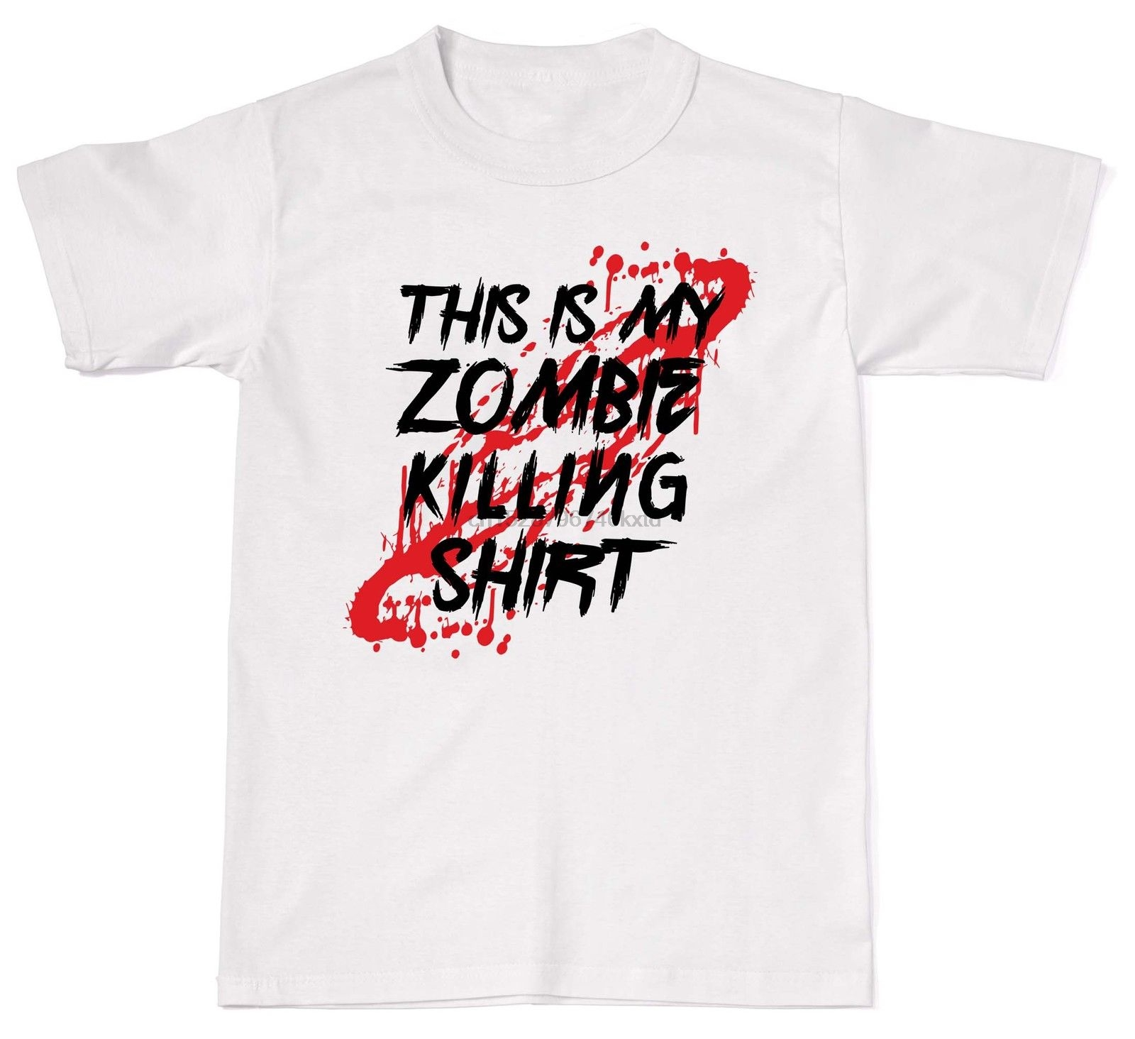 2019 Hot sale Free shipping This Is My Zombie Killing Shirt Funny Gamer Nerd Geek Mens Cotton T Shirt in T Shirts from Men 39 s Clothing