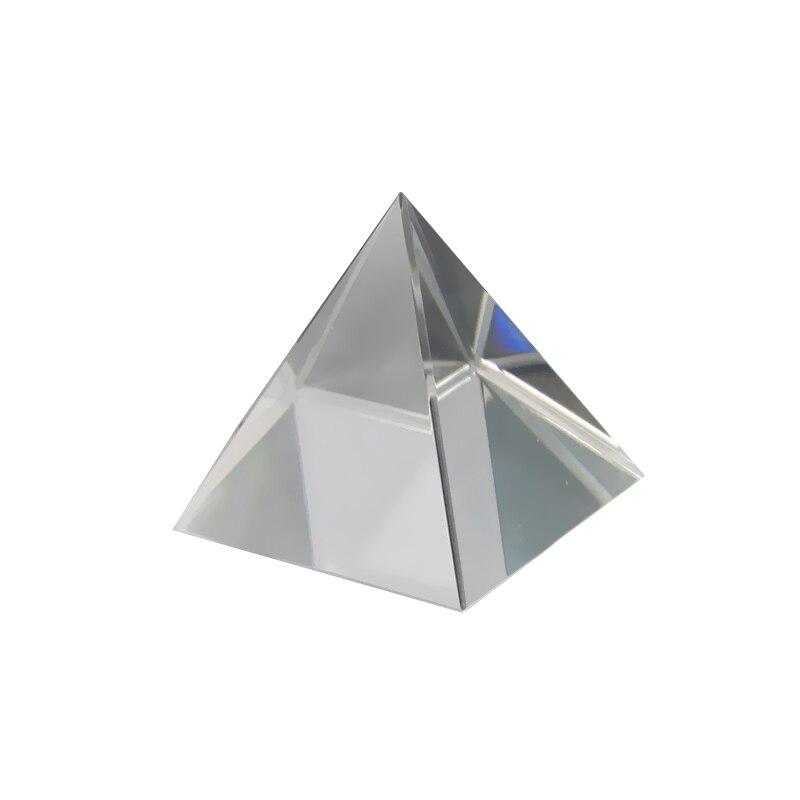 Guia de Cristal de Vidro Decoração de Casa de Ensino Egito Pirâmide Prisma Ótico Ciência 60mm Triângulo Fotografia Luz k9