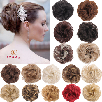 LVHAN 56-Color Chignon Buns Synthetic Wigs Chemical Fiber Hair Fake Accessories - discount item  30% OFF Synthetic Hair