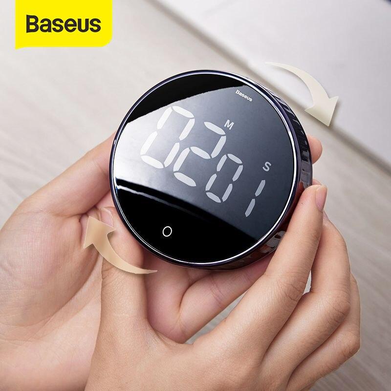 Baseus minuteries numériques magnétiques compte à rebours manuel minuterie de cuisine compte à rebours réveil mécanique minuterie de cuisson réveil compteur