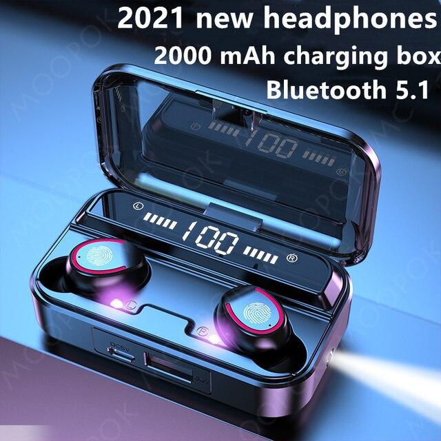 Wireless Headphones Bluetooth Earphones TWS Earphones Lotus  Mini Headset Gaming in Ear Headphones Case With mic headphones