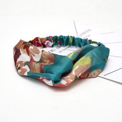 Женская замшевая повязка на голову на лето и осень, Винтажные эластичные резинки для волос с перекрестным узлом, мягкая однотонная повязка для волос для девочек, аксессуары для волос - Цвет: B1