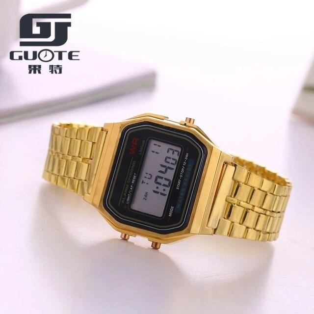 Chasy Fashion Brand Design LED Watch Men Women Cheap Sport Watch Stainless Steel Digital Alarm Stopwatch Wrist Watch Reloj Mujer