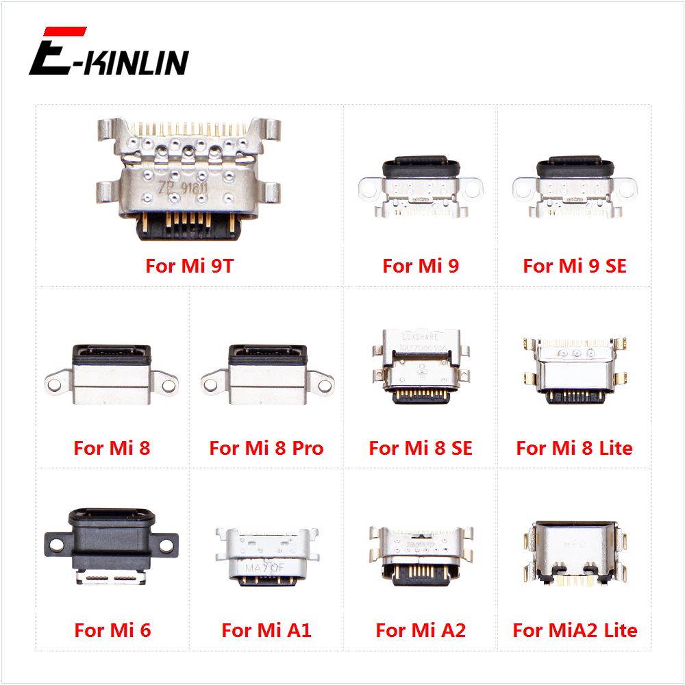 Type-C Charge Charging Plug Dock Micro USB Jack Connector Socket Port For XiaoMi Mi A1 A2 Lite 9 9T 8 Lite SE Pro 6