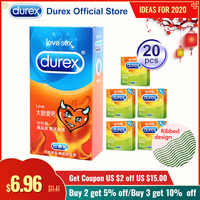 Durex preservativos de borracha de látex natural preservativo artigos íntimos contracepção intimidade sexo brinquedo produtos galo pênis manga sexo para homem