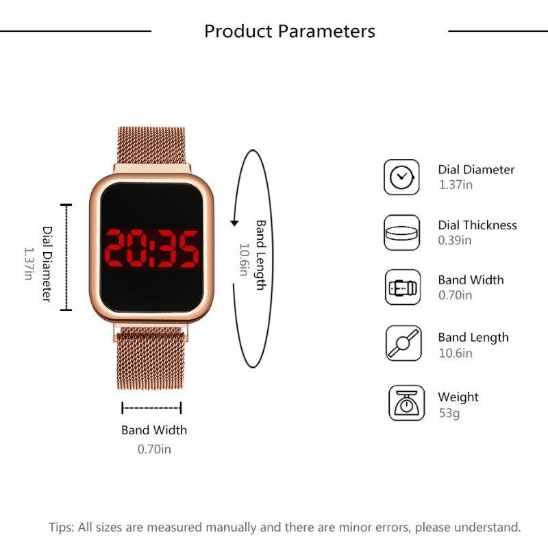 cinto quadrado cabeça moda relógios de negócios