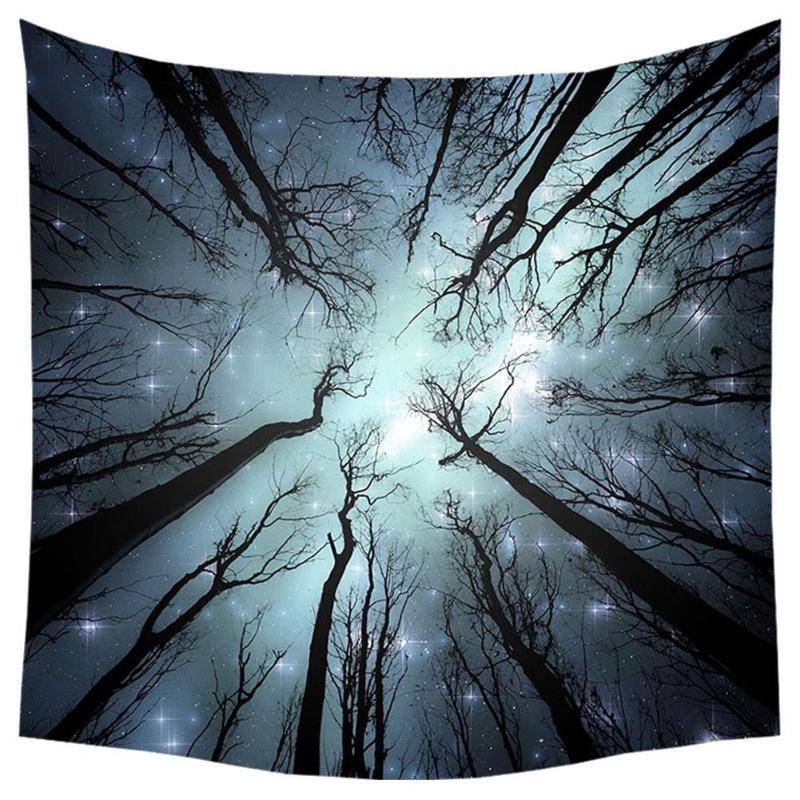 Ev ve Bahçe'ten Dekoratif Halılar'de Dayanıklı Goblen Fantezi Orman Polyester ev dekorasyon Duvar Asılı Plaj Halı piknik örtüsü Kapak Aksesuarları title=