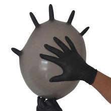 100 sztuk pudło jednorazowe rękawice rodzinne czyszczenie czarne rękawiczki nitrylowe kuchnia zmywanie naczyń piękno koloryzująca włosy rękawiczki tanie tanio CN (pochodzenie) Silikon