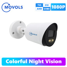 Movols 2MP Kleurrijke Nachtzicht Cctv Ahd Outdoor Video Surveillance Camera Waterdicht