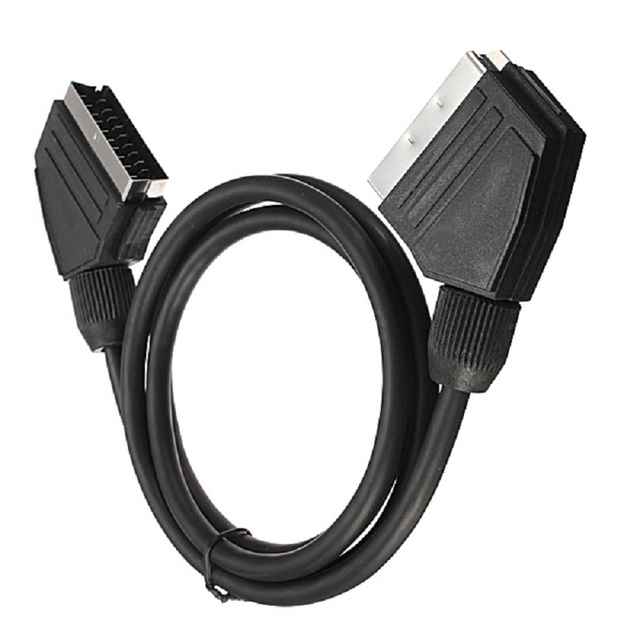 3M EU Version Male to Male Nickle Plated Scart Cable 21 pin TV DVD VCR Audio Video Lead Cables