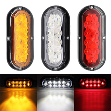 цена на 2PCS 12V 10 LED Waterproof Car Tail Light Assembly Rear Lamps Stop Brake Lamp for Trailer Truck Van Car Lighting
