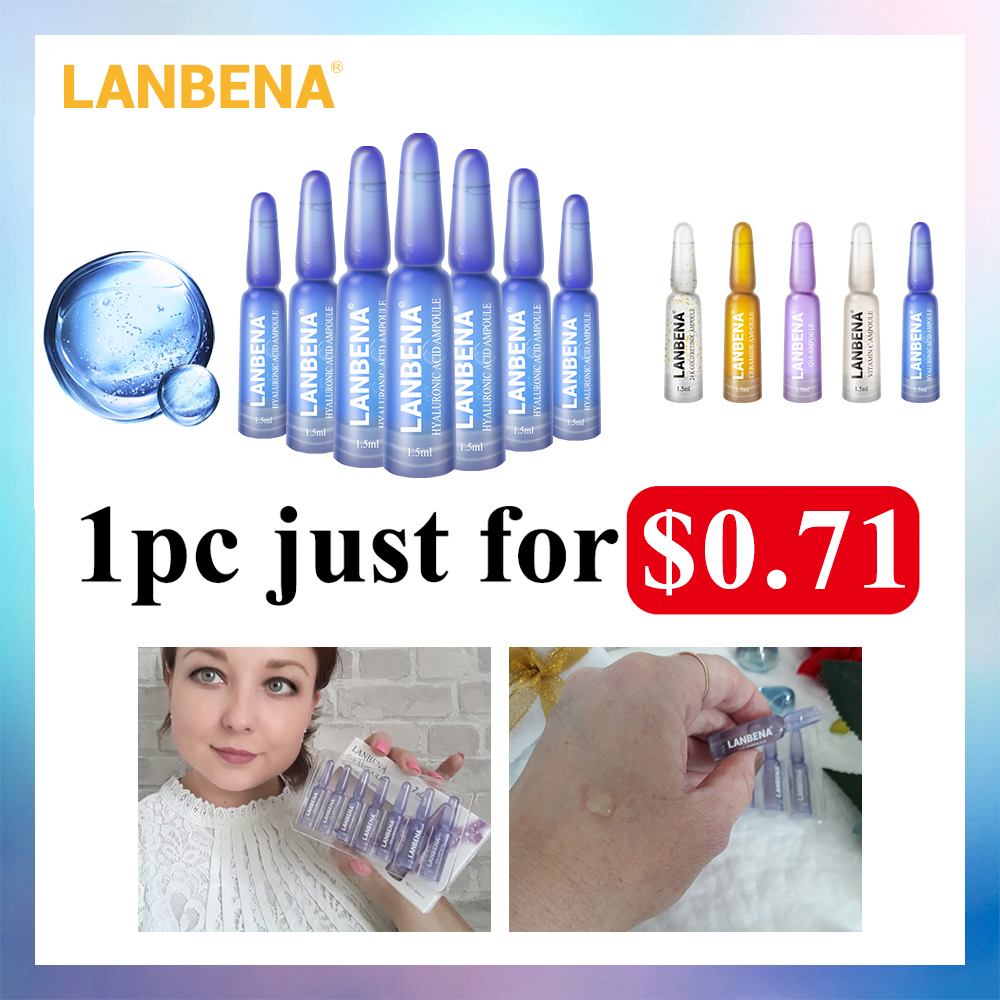 LANBENA Face Serum Hyaluronic Acid Vitamina C 24K Gold Retinol Anti-Aging Wrinkle Moisturizing Whitening Firming Acne Treatment