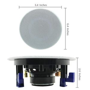 Image 3 - Herdio 4 Inch 160 Watts 2 Way Flush Mount in Wall in Ceiling 2 Way Home Audio Speaker System For Bathroom Kitchen Home 3 Pair