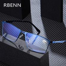 RBENN-gafas de lectura con marco de Metal para hombre, anteojos para leer con luz azul, de alta calidad, para negocios, presbicia, gafas para juegos de ordenador, novedad de 2020