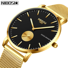 NIBOSI New Fashion Sports Mens Watches Top Brand Luxury Waterproof Simple Ultra-Thin Watch Men Quartz Clock Relogio Masculino new fashion guanqin mens watches top brand luxury gold steel clock male simple ultra thin unisex quartz watch relogio masculino