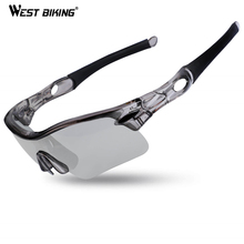 WEST BIKING Polarized Cycling Eyewear UV400 Photochromic Sport Goggles