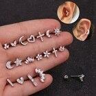 1 PC Zircon Ear Bone...