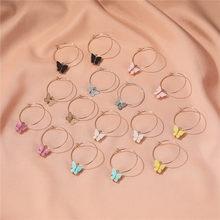 Orecchini a farfalla in acrilico Color oro Modyle per donna orecchini a goccia stile Street moda coreana orecchini pendenti regali gioielli