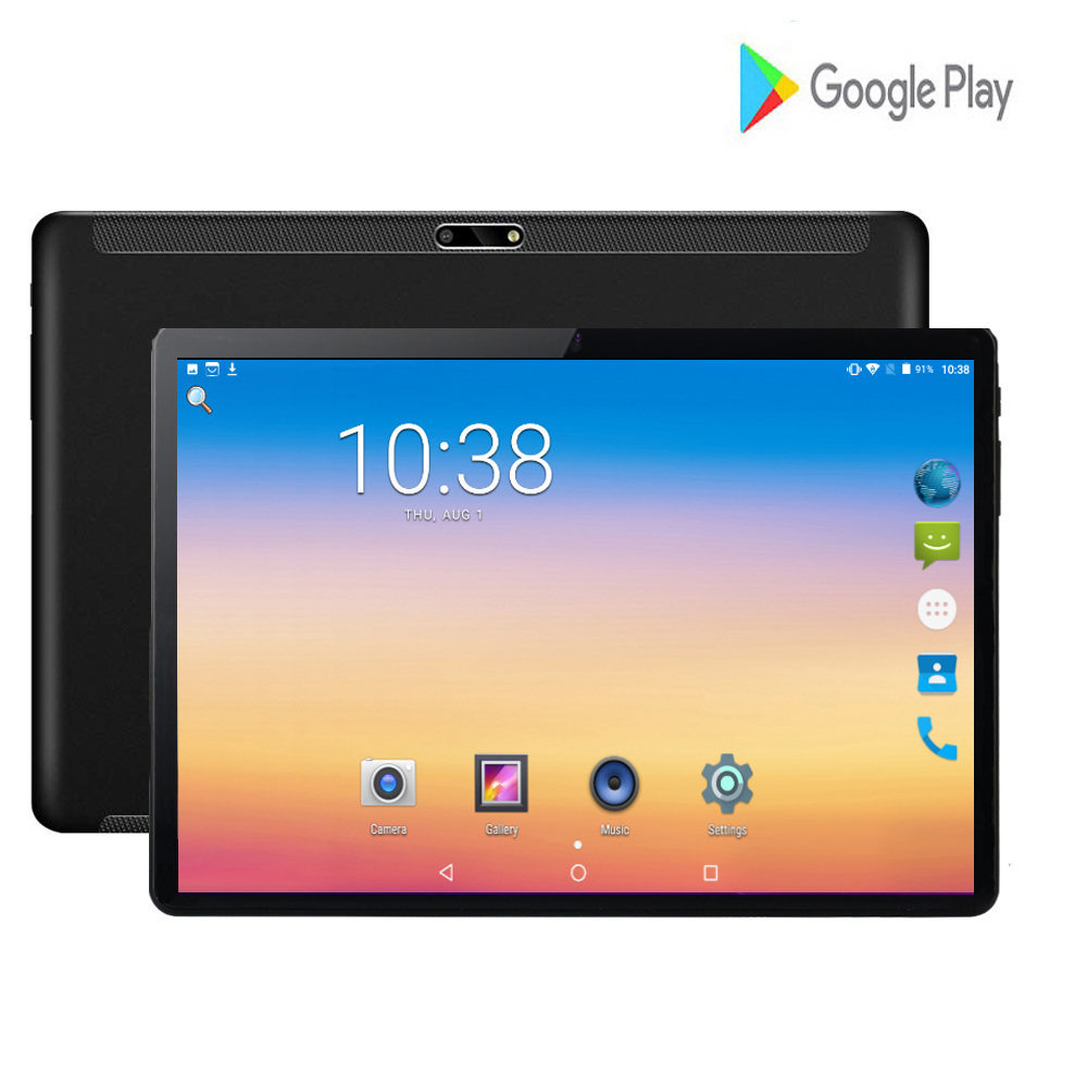 2020 Hot Global Version 10 Inch Tablet PC Quad Core 2GB RAM 32GB ROM 3G WIFI Android 7.0 WiFi 1280*800 IPS 2.5D Glass +Gifts