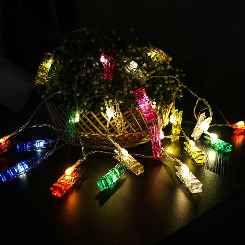 Christmas Tree Decorations Mermaid Party Berry Garland String LED Clip Winter Wonderland Ornaments Navidad Noel New Year 2020,W