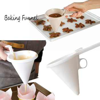 Handheld Baking Funnel Pastry Flour Butter Cream Batter Icing Candy Liquid Dispenser Chocolate Cookie Pancake Separatory Tools image