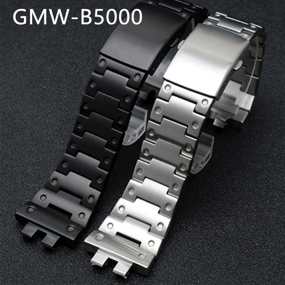 Stainless Steel Watch Band Strap for Casio <font><b>G</b></font>-<font><b>Shock</b></font> GMW-B5000 Series Men Metal <font><b>Watchband</b></font> Wrist Bracelet Accessories with Tools image