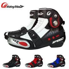 Motorcycle Boots Riding Tribe Shoes Speed Waterproof Breathable Microfiber