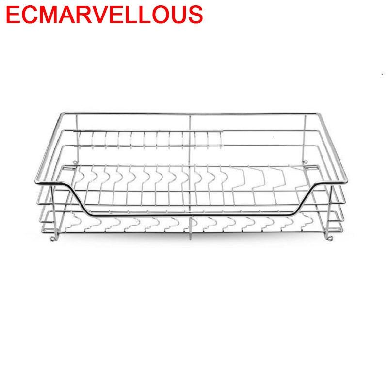 Organizar Cestas Para Colgar En La Ducha Organizador Cupboard Mutfak Stainless Steel Rack Cocina Kitchen Cabinet Storage Basket