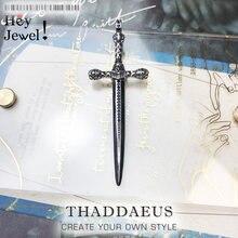Pendentif crâne épée, 2018 flambant neuf mode Bijoux Europe Style Bijoux collier accessoires Vintage cadeau pour femme hommes