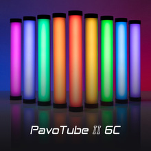 Nanlite PavoTube II 6C LED RGB أنبوب ضوء المحمولة المحمولة التصوير الإضاءة عصا CCT وضع صور الفيديو لينة ضوء