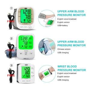 Image 2 - Cofoe automático monitor de pressão arterial braço superior medidor pulso bp batimento cardíaco tonômetro digital lcd sphygmomanômetro